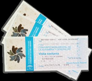 Alhambra tickets example - Wanderlust Granada tours