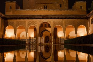 Alhambra at night - wanderlust Granada tours